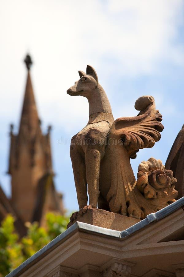 Gargoyle, catedral do St. Mary. Sydney. Austrália fotos de stock