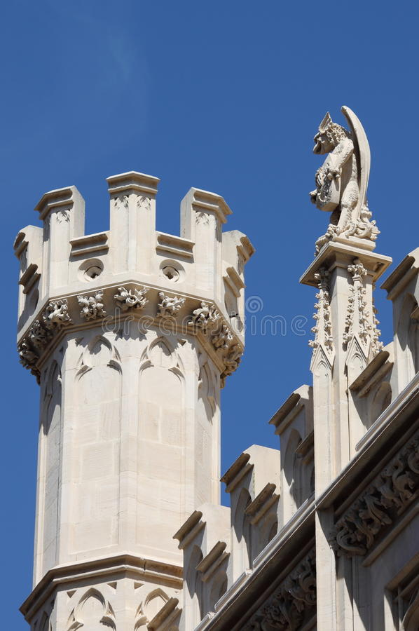 Gargoyle in City Hall building of Palma de Mallorca stock photo