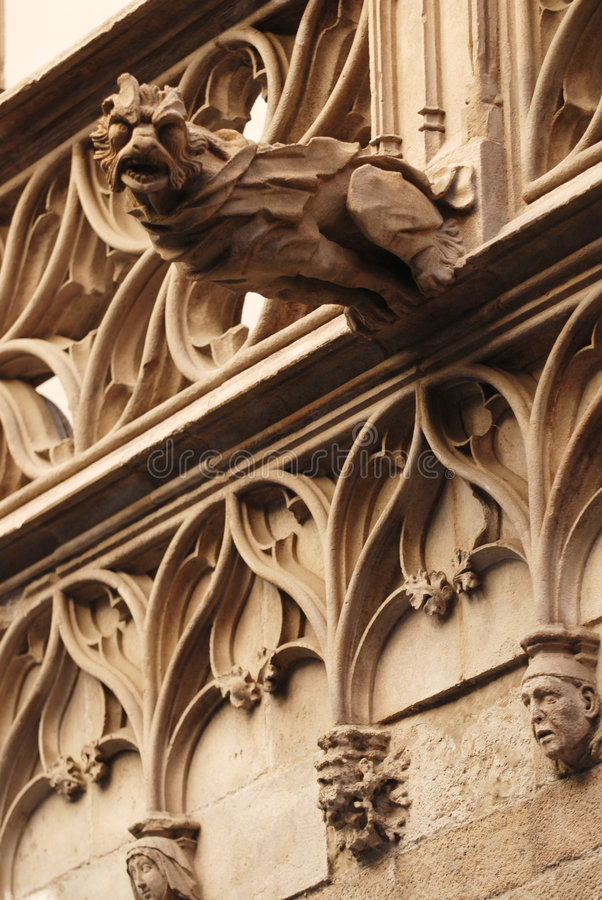 Gargoyle de Barcelona foto de stock