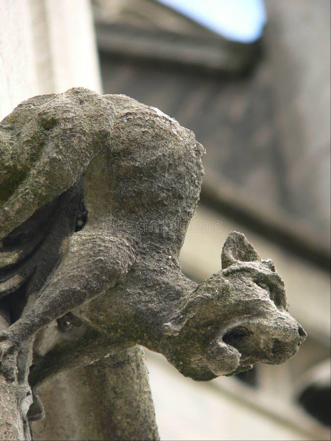 Gargoyle de la iglesia imagen de archivo libre de regalías