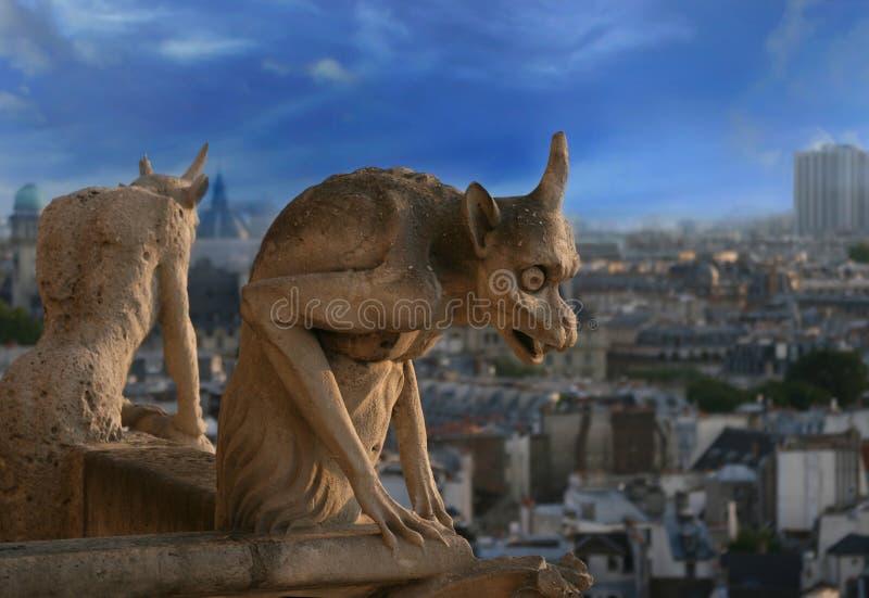 Gargoyle del Notre Dame de Paris fotografía de archivo libre de regalías