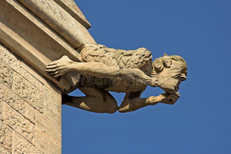 Gargoyle di pietra fotografia stock libera da diritti