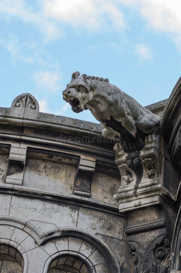 Gargoyle or gargouille, The Basilica of Sacre-Coeur, Montmartre , Paris. France. Gargoyle or gargouille, The Basilica of Sacre-Coeur, Montmartre , Paris royalty free stock photo