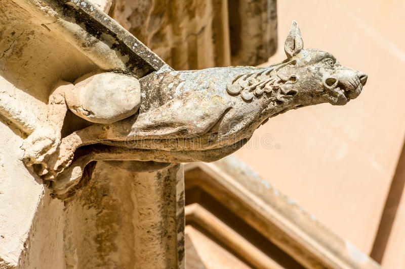 Gargoyle on a house in Mdina, Malta royalty free stock photography