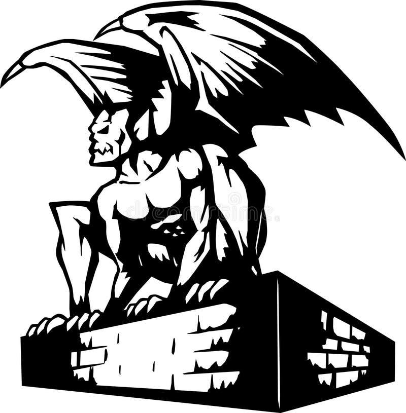Download Gargoyle Icon stock vector. Illustration of demon, evil - 12816937