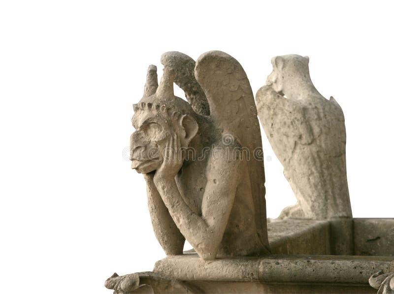Gargoyle isolado do Notre Dame de Paris foto de stock