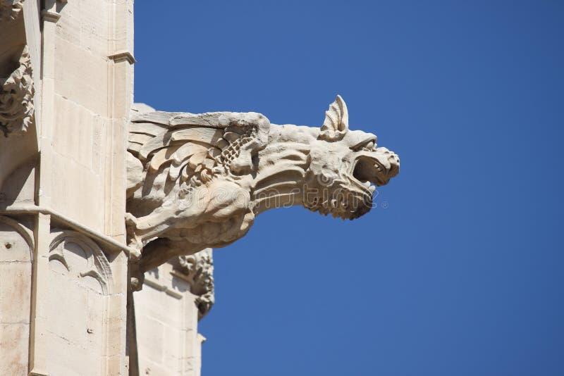 Gargoyle at La Lonja monument royalty free stock photo