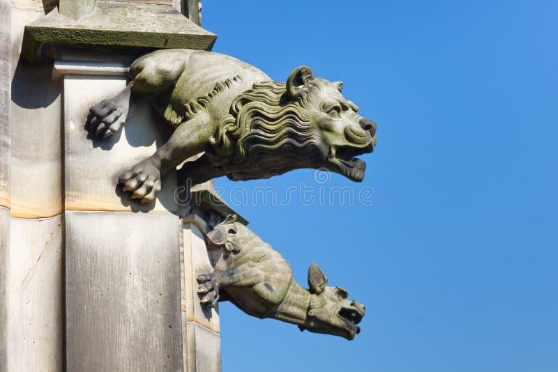 Gargoyle na igreja de Ulm, Alemanha fotografia de stock royalty free