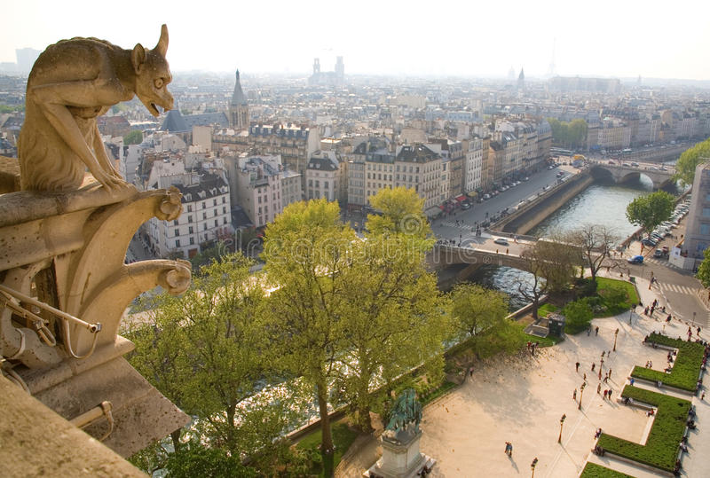 Download Gargoyle On The Notre-Dame De Paris Stock Image - Image of church, looking: 9977779