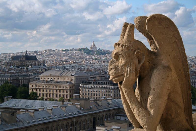 Gargoyle of Notre Dame in Paris stock photos