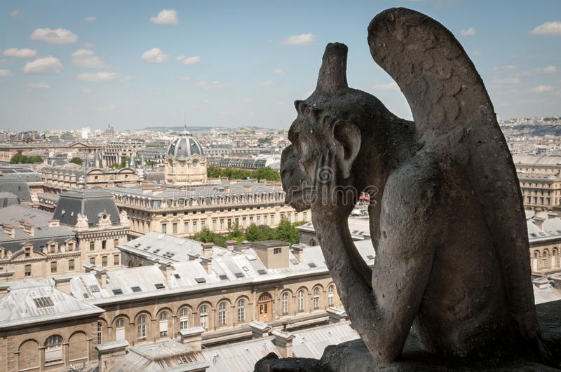 Download Gargoyle Overlooking The City Stock Photo - Image: 83711652
