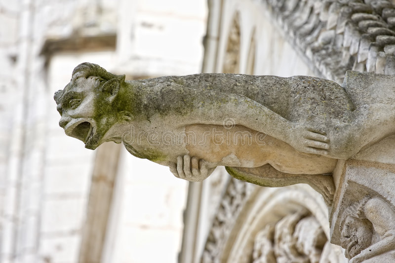 Gargoyle In Poitiers, France Royalty Free Stock Photo
