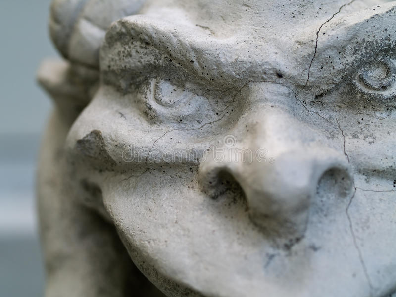 Gargoyle Statue. Taken with emphasis on face and eyes stock photos