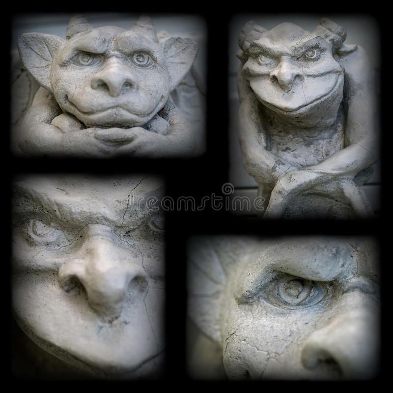 Gargoyle Statue. With a Dark Border stock images