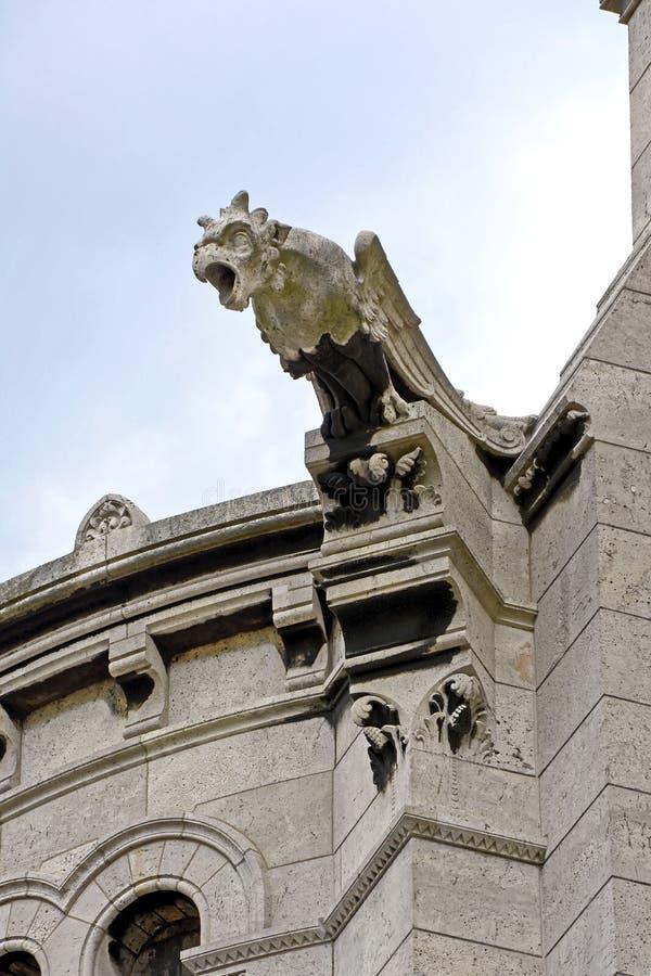 Gargoyle on top of church. In Paris, France stock image