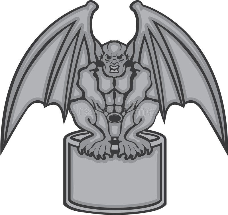gargoyle vector stock vector illustration of horror 49274561 rh dreamstime com gargoyle clipart free