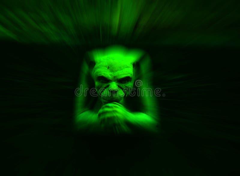 Gargoyle verde ilustração do vetor