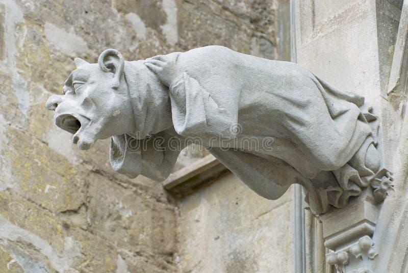 Gargoyle at the wall of the Basilique Saint-Nazaire-et-Saint-Celse in Carcassonne, France. royalty free stock photo