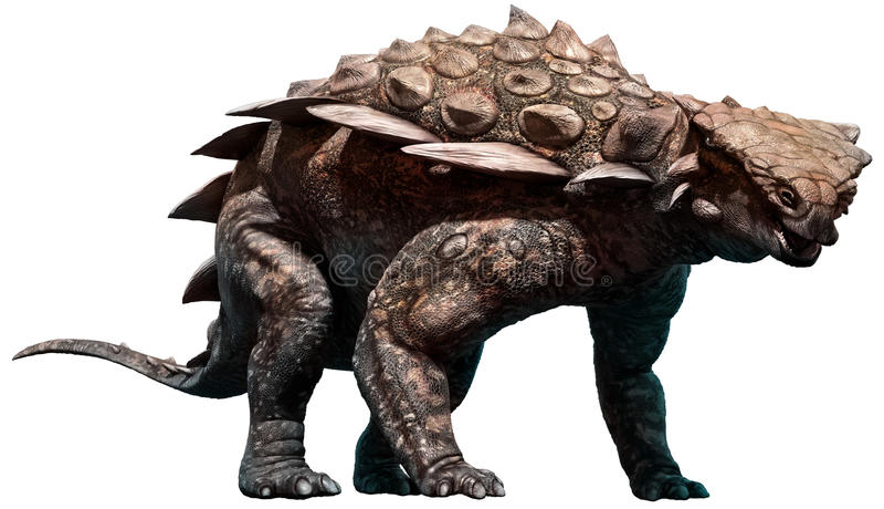 Gargoyleosaurus royalty-vrije illustratie