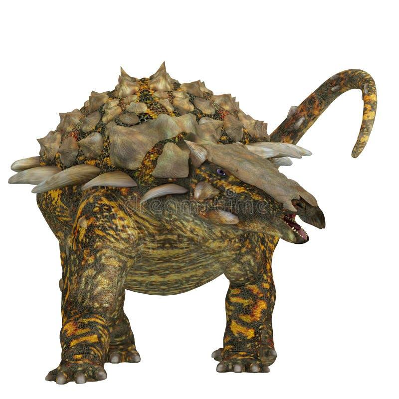 Gargoyleosaurus sur le blanc illustration de vecteur