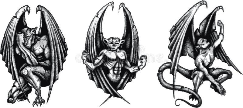 Gargoyles ilustração stock