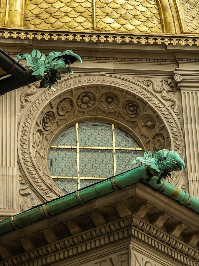 Gargoyles On A Bulding stock photography
