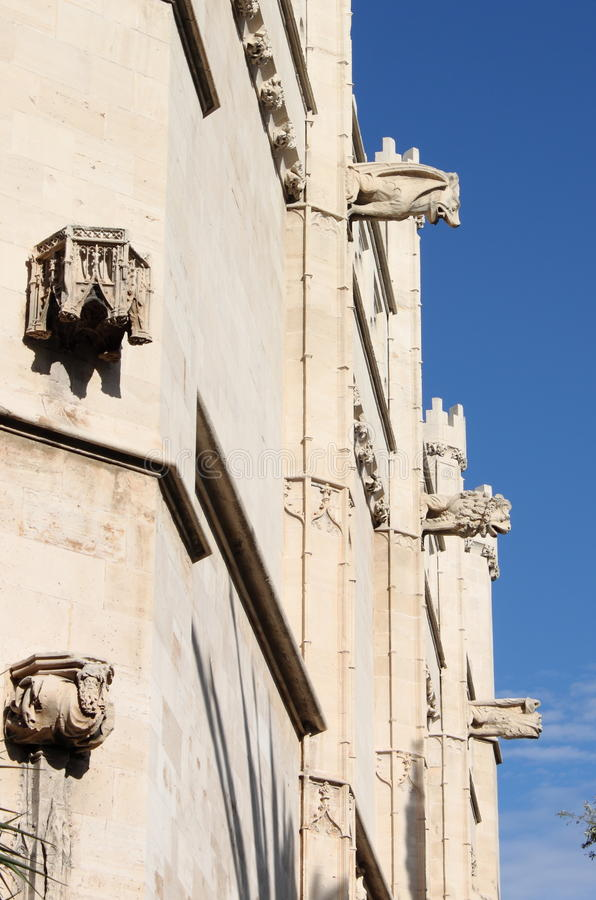 Gargoyles at La Lonja monument stock photos
