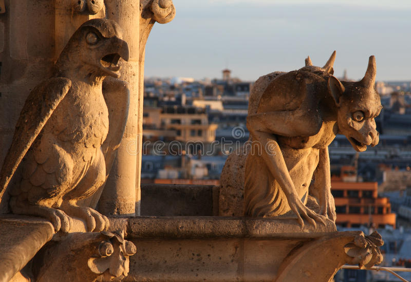 Download Gargoyles of Notre Dame stock image. Image of guard, beast - 15281601