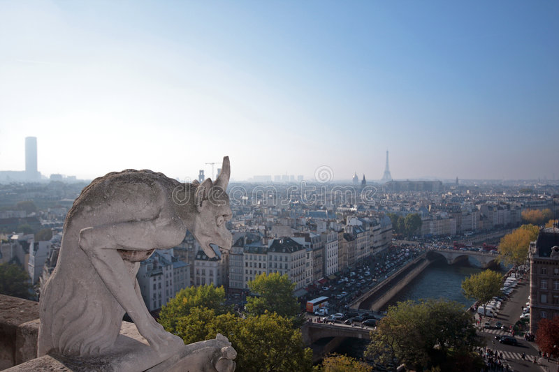 Download The Gargoyles Of Notre Dame Stock Photo - Image: 6736330
