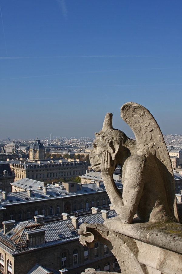 Download The Gargoyles Of Notre Dame Stock Image - Image: 6930893