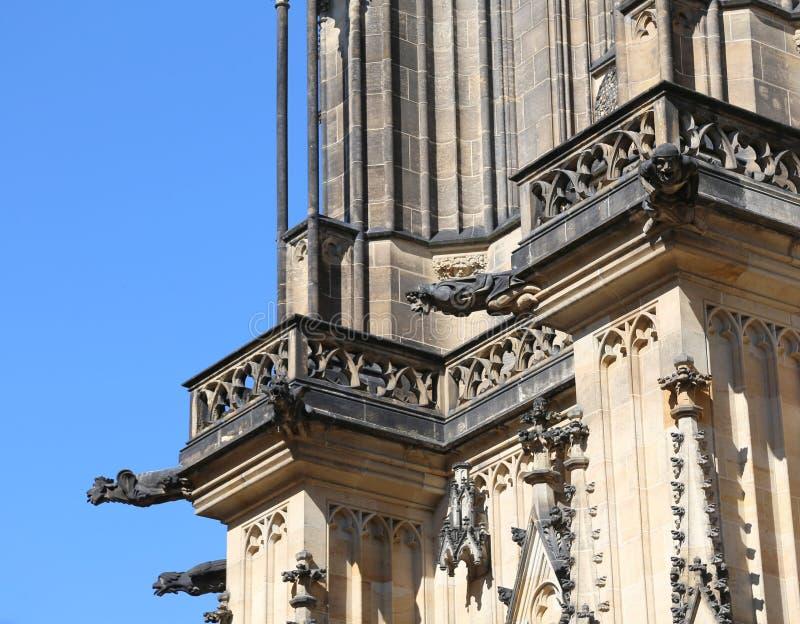 Gargoyles of saint vitus cathedral in Prague. Czech Republic in Europe stock photography