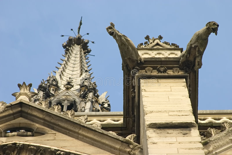 Download Gargoyles of St. Chappelle stock photo. Image of chappelle - 430976