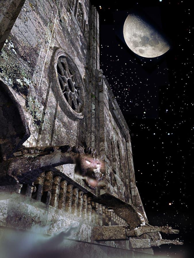 Download Gargoyles under the moon stock illustration. Illustration of fright - 19474459