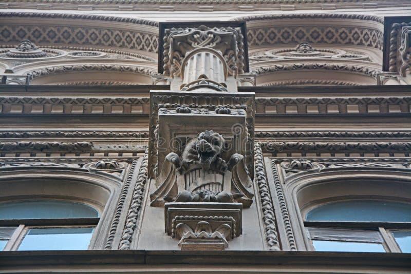 Gargoyley Kosikovsky ` s dom w świętym Petersburg, Rosja obraz royalty free