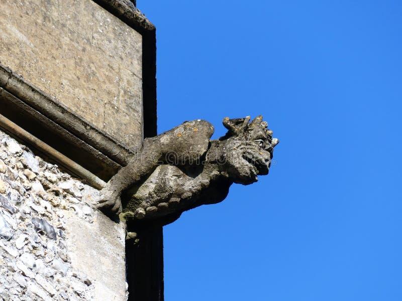 Gargulec na wierza Świętej trójcy farny kościół, Penn ulica zdjęcia royalty free