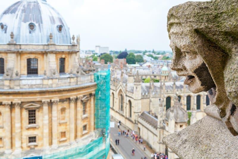 Garguleca St Mary dziewicy Kościelne england Oxford obrazy royalty free
