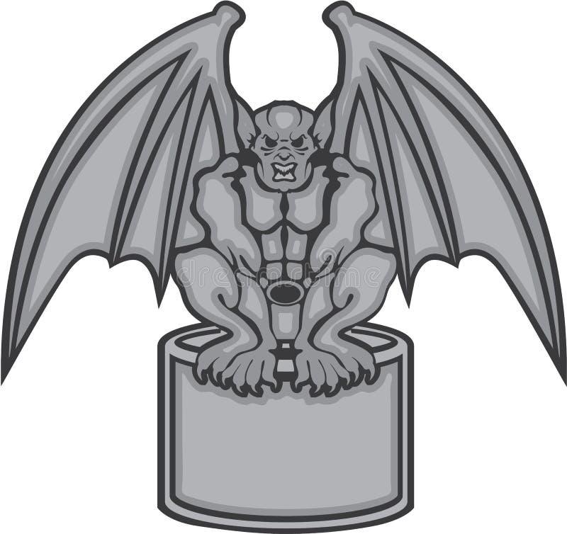 Garguleca wektor ilustracja wektor
