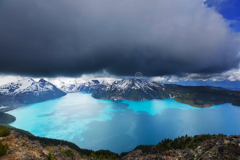 Garibaldi lake stock photo