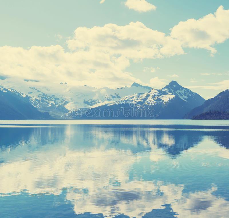 Garibaldi lake stock image