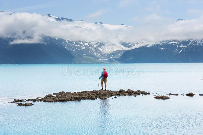 Garibaldi Lake arkivfoton