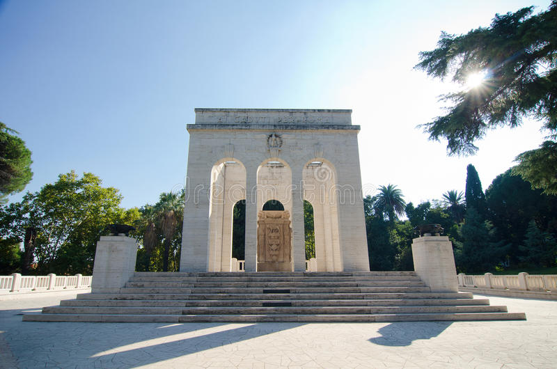 Garibaldi Ossuary Mausoleum - Rome royalty-vrije stock foto's