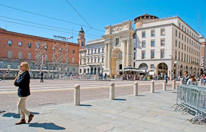 Garibaldi Square em Parma fotos de stock