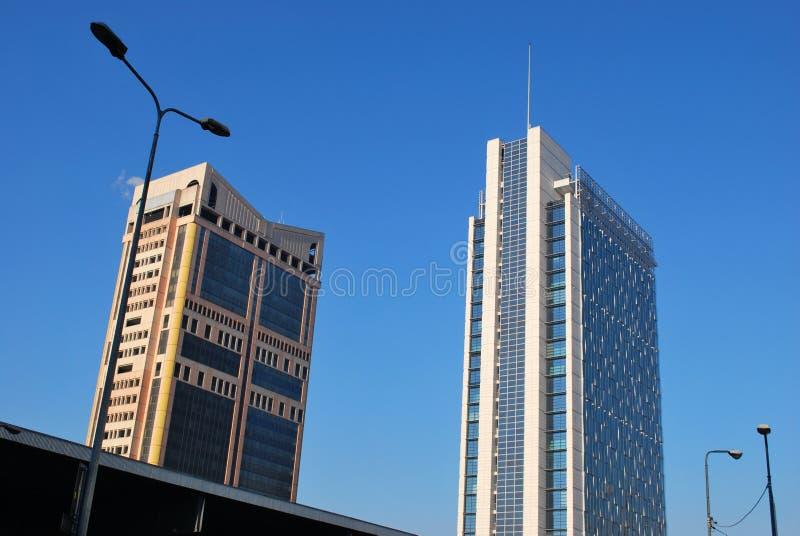 Garibaldi towers, Milan stock photo