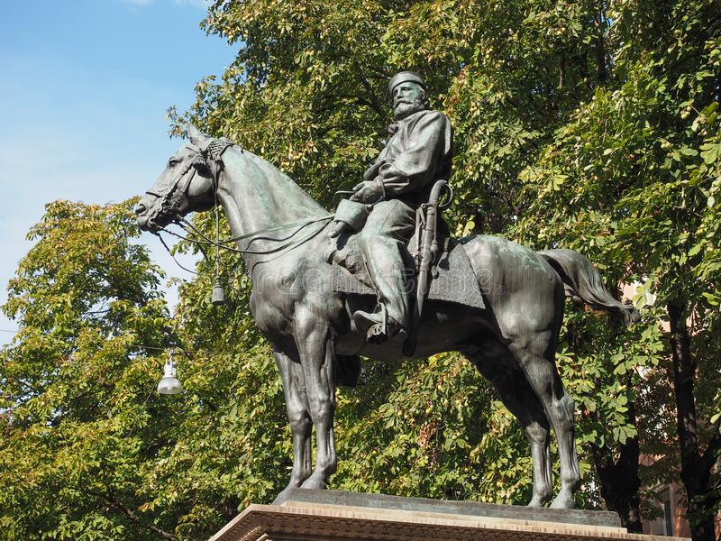 Garibaldimonument in Bologna royalty-vrije stock foto's