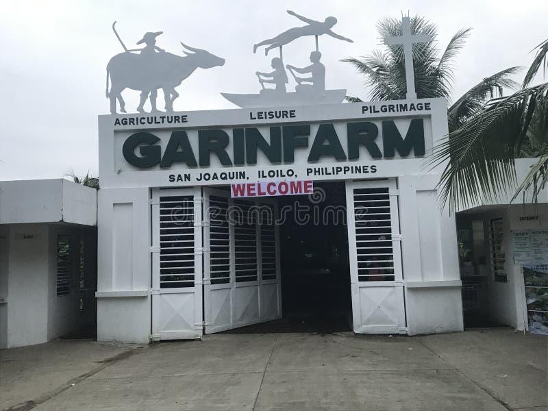 GARIN-LANTGÅRDINGÅNG I SAN JOAQUIN, ILOILO, PHILIPPIANS royaltyfria bilder