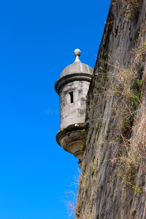 Garita or Sentry House on Old San Juan stock image