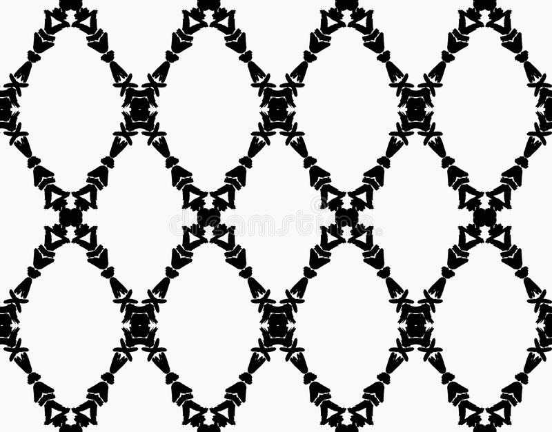 Garland Brush Strokes Pattern preto ilustração do vetor