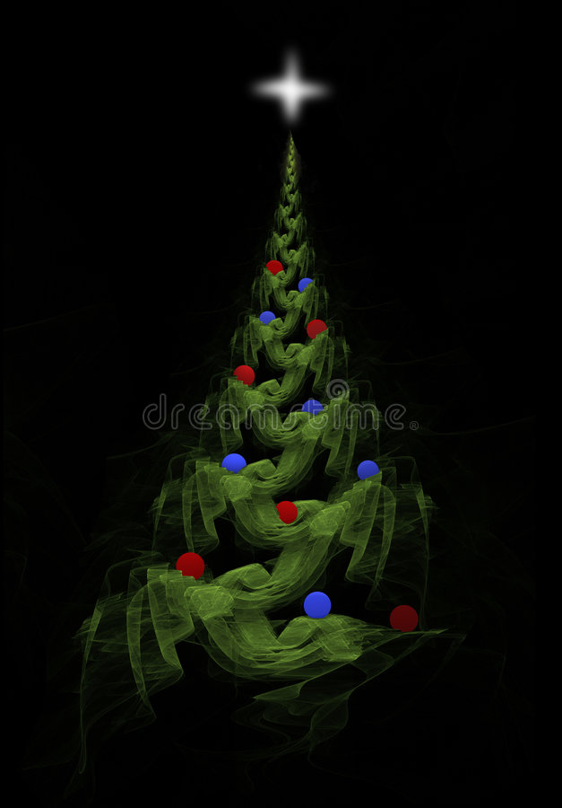 Garland Christmas Tree royalty free illustration