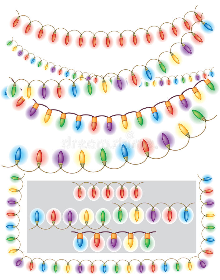 Garland Of Colored Light Stock Image