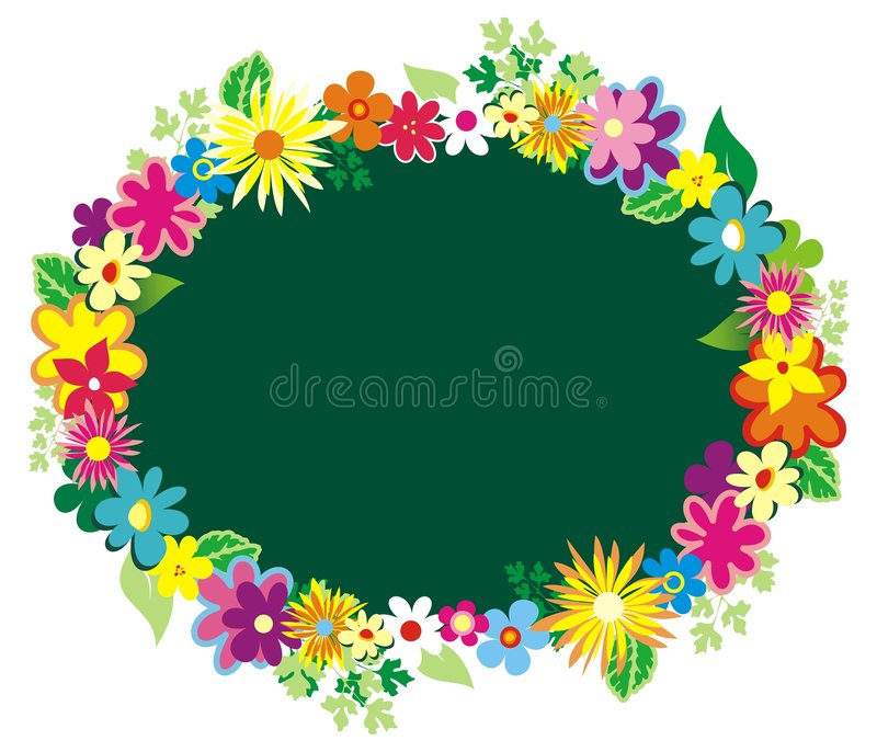 Garland Of Flowers Royalty Free Stock Photography